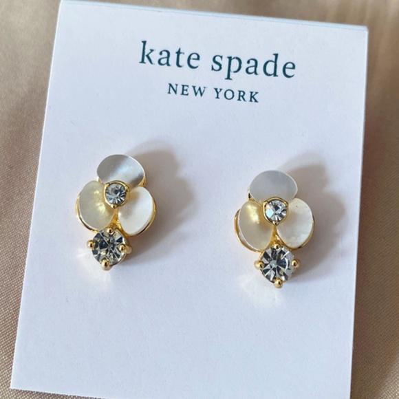 Kate Spade earrings mother of pearl flower earring